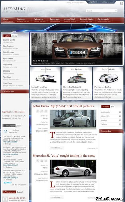 IT-AUTOMAG auto joomla template