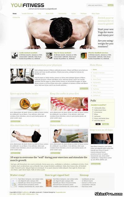 You fitness шаблон joomla фитнес сайта fitness
